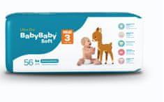 BabyBaby Soft Plienky MIDI 3 (6-9kg) 56ks