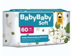 BabyBaby Soft Vlhčené obrúsky - 100% bavlna, 60ks