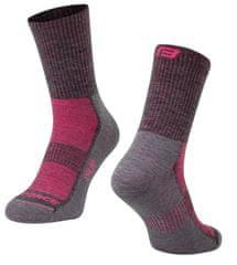 Force Středně silné cyklistické ponožky POLAR s vlnou Merino - velikost 36-41