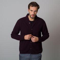 Willsoor Pánský vlněný svetr v bordó barvě 12113