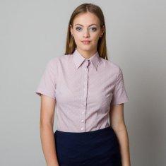 Willsoor Dámská košile světle růžové barvy s vystouplým jemným vzorem 11865