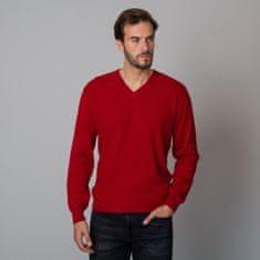Willsoor Pánský svetr červené barvy s jemným vzorem 12122