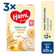 Hami mliečna kaša krupicová medová 3x 225 g