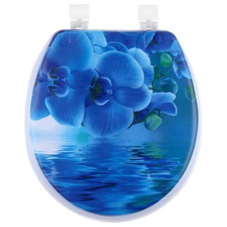 """Kraftika Wc-ülőke, puha """"kék orchidea"""""""