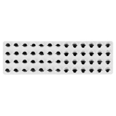 Kraftika Oczy na bazie kleju, zestaw 52 szt., rozmiar 1 szt. 0,8 cm