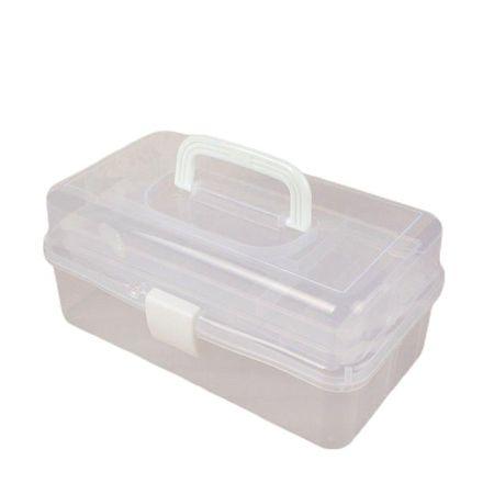 Kraftika Pudełko do przechowywania przesuwne, przezroczyste