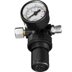 "tectake Manometr a regulátor tlaku 1/4"" - černá"