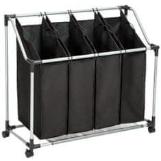 tectake Koš na prádlo na třídění - černá