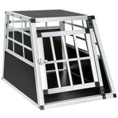 tectake Přepravní box pro psa s rovnou zadní stěnou - 54 x 69 x 50 cm