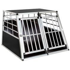 tectake Přepravní box pro psa dvojitá s rovnou zadní stěnou - 97 x 90 x 69,5 cm