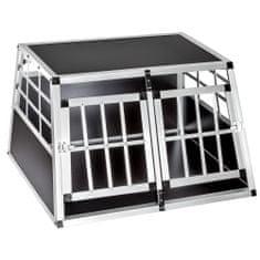 tectake Přepravní box pro psa dvojitá s rovnou zadní stěnou - 89 x 69 x 50 cm