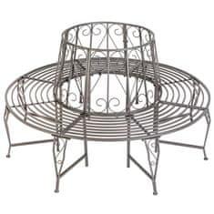 tectake Kruhová záhradná lavička okolo stromu 360 ° lakovaná oceľ - antracit