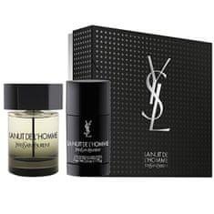 Yves Saint Laurent La Nuit De L` Homme - EDT 100 ml + tuhý deodorant 75 ml