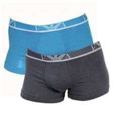 Emporio Armani Boxerky Emporio Armani 2 pack - modrá, šedé - M