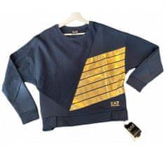 Emporio Armani Dámská mikina Emporio Armani tmavě modrá se zlatým logem - XXS