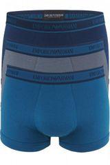 Emporio Armani Boxerky Emporio Armani 3 pack - modrá / modrá / šedá - M
