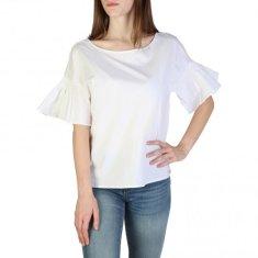 Armani Exchange Dámské bílé triko Armani Exchange s volány - XS
