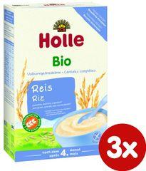 Holle Bio Ryžová bezmliečna kaša - 3 x 250g