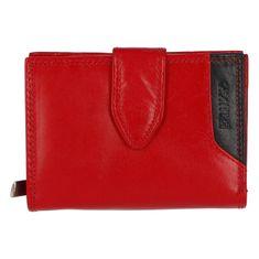 Bellugio Menšia dámska kožená peňaženka Elvíra, červená