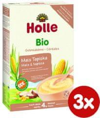 Holle Bio kaša kukuričná s tapiokou - 3 x 250g
