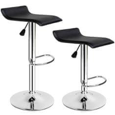 tectake 2 Barová stolička Lars - černá