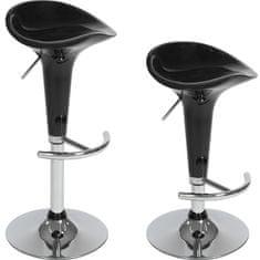 tectake 2 Barové stoličky Peter - černá