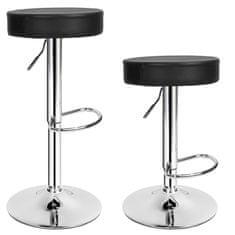 tectake 2 Barové stoličky Sebastian - černá