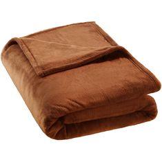 tectake Hřejivá deka mikroplyš - hnědá, 220 x 240 cm