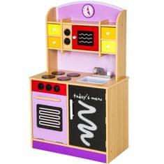 tectake Dětská dřevěná kuchyňka - fialová