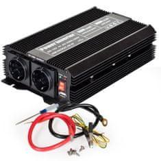 tectake Měnič napětí Invertor 12V na 230V 1500W 3000W - černá