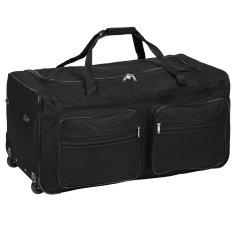 tectake Cestovní taška na kolečkách 160 litrů - černá