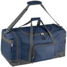 tectake Cestovní taška 90 litrů s ramenním popruhem - modrá