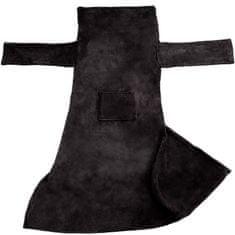 tectake 2 Deky s rukávmi - černá, 200 x 170 cm