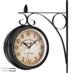 tectake Nástěnné hodiny vintage - černá