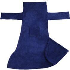 tectake 2 Deky s rukávy - modrá, 200 x 170 cm