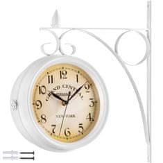 tectake Nástěnné hodiny vintage - bílá