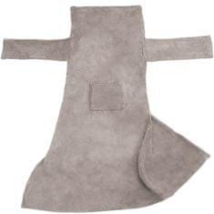 tectake 2 Deky s rukávy - šedá, 200 x 170 cm