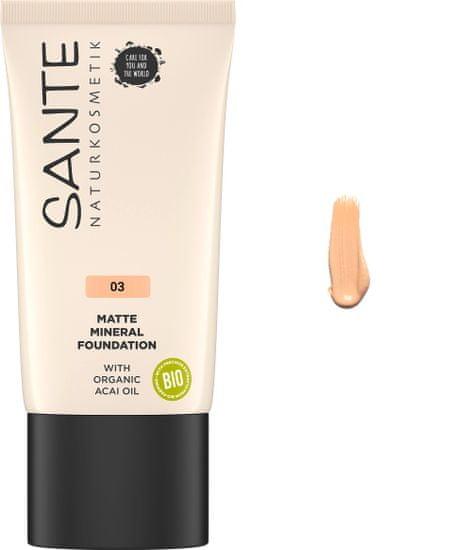 SANTE Naturkosmetik Minerálny make-up Matte - 30ml - 03 Neutral Beige