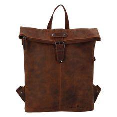 Green Wood Luxusný kožený mestský batoh Greenwood rucksack, hnedý