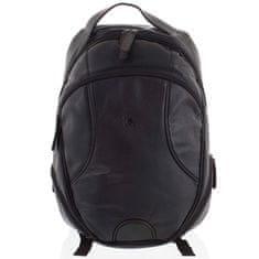 Always Wild Pánský kožený batoh Igino černý