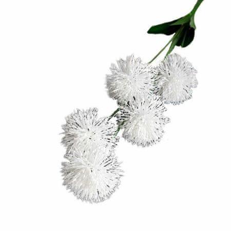 """Kraftika Sztuczne kwiaty """"clover"""" 6h70 cm, białe"""