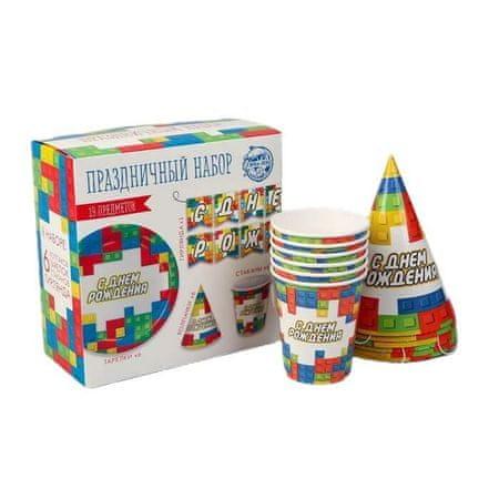 """Kraftika Zestaw naczyń papierowych """"happy birthday cubes"""""""