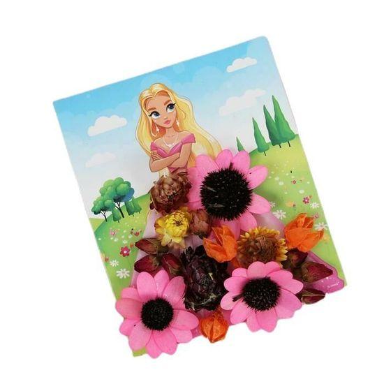 """Kraftika Sada sušených květin pro kreativitu """"malování květinami:"""