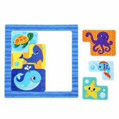 """Kraftika Vzdělávací hra pro koupel """"tetris. podvodní svět"""", od eva"""