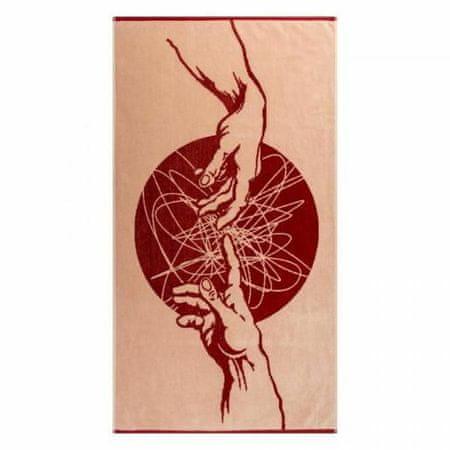 Kraftika Törölköző freskó pcs-2602-4444 50x90, piros, 100% pamut