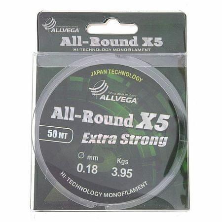 Kraftika Horgászzsinór all-round x5 0,18 mm, 50 m