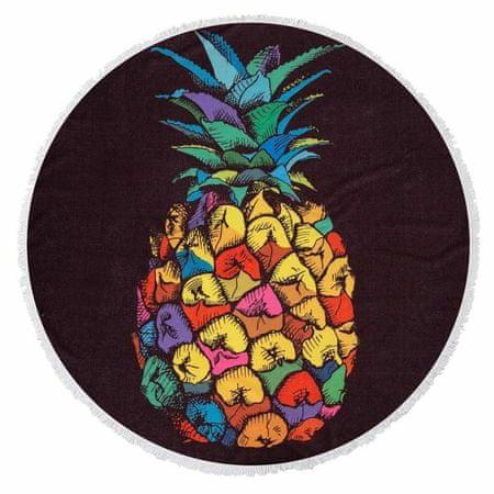 """Kraftika Ręcznik plażowy """"rajski ananas"""", dł. 150cm"""
