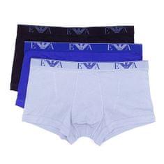 Emporio Armani Boxerky Emporio Armani 3 pack - modrá, šedá, černá - S