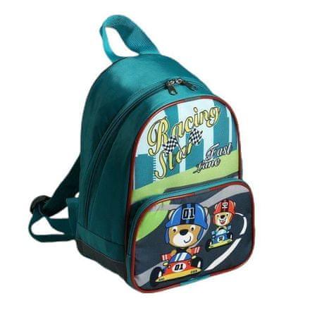 Kraftika Gyermek hátizsák, villám osztály, külső zseb, zöld szín