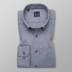 Willsoor Pánská košile Slim Fit modro-šedé barvy 12271